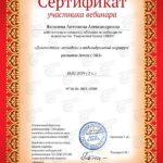 сертификат участника вебинара 2019